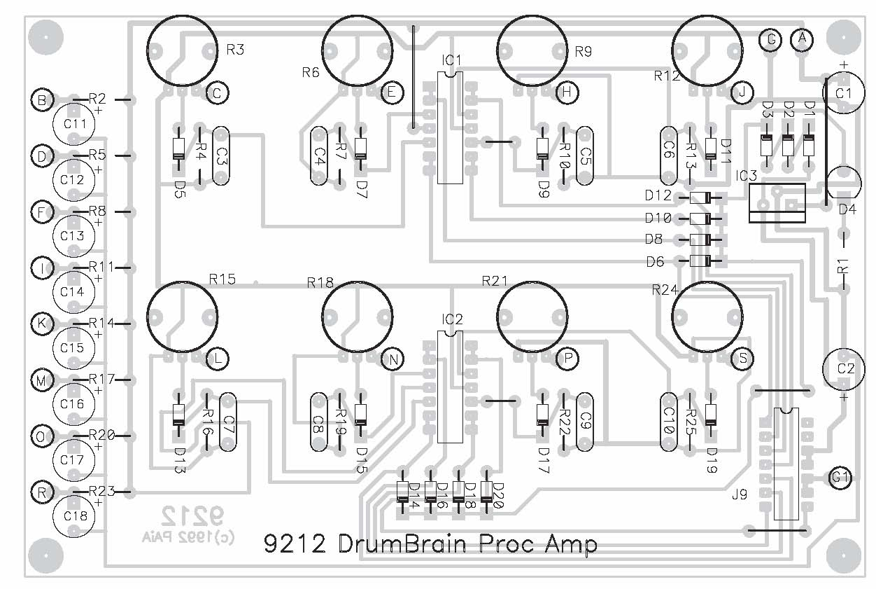 Paia 9212k Sensor Processing Amplifier Drum Tone Board Set Diagram View Larger Image