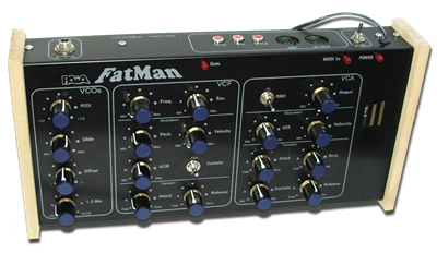 9308K FatMan Analog MIDI Synth Kit (kit only, please select case or rack panel option if desired)
