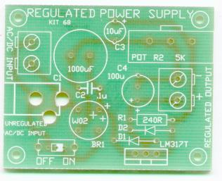 K68 Adjustable Voltage Power Supply